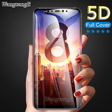 купить 5D Full Cover Tempered Glass For Xiaomi Mi 8 Lite SE Pro Mi A2 Lite Mi A1 A2 Pocophone F1 Mi Max 2 3 Mix 2 Screen Protector недорого