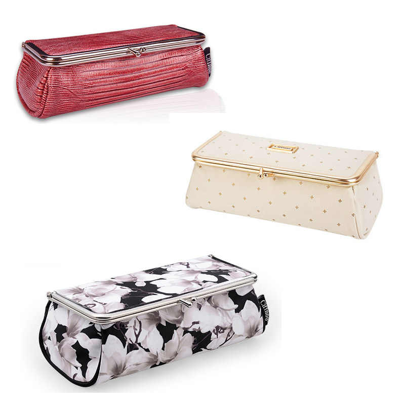 Women Fashion Party Makeup Bag With Mirror Small Cosmetic