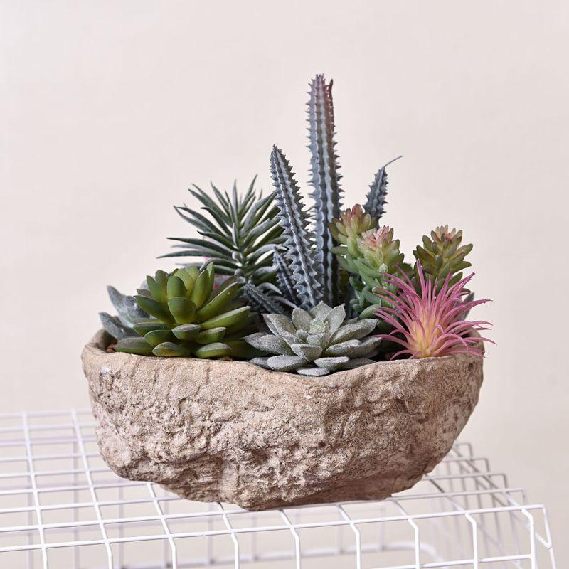 Simple Simulation créative Pots de plantes intérieur bassin de pulpe grands ornements plantes décorations pour la maison 3