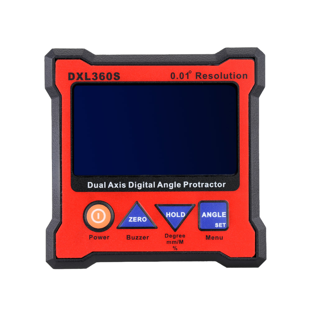 DXL360S Dual Axis Digital Angle Protractor Dual axis Level Gauge with 5 Side Magnetic Base 100