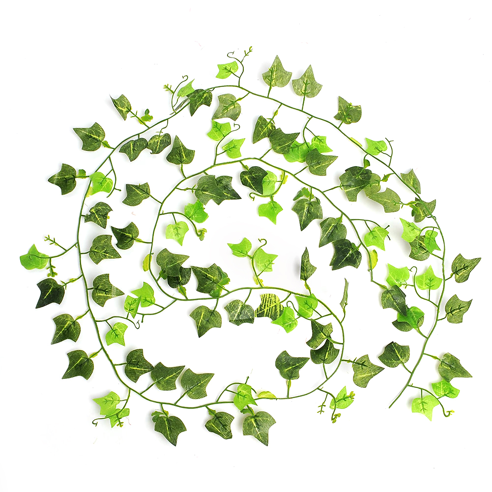 8.2 Feet Natural Artificial Ivy Leaves Plastic Plants Vine Fake Foliage Flowers Rattan Wedding Decoration Home Party Supplies