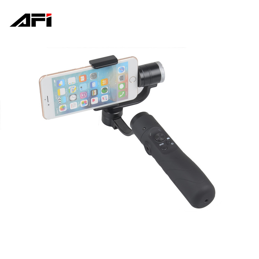 china factory AFI V3 handheld 3axis hand gimbal for iphone huawei phone s7 edge smartphone gopro