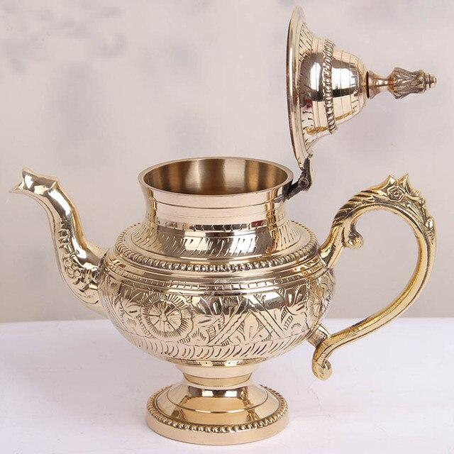 Pote de chá de cobre puro feito à mão índia pequeno bule cafeteira 500 ml 600 ml hip flask flagon pote de vinho casa amigo da família melhor presente