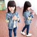 Девушка верхняя одежда babygirl модная одежда девочка джинсовая одежда ребенок джинсовая куртка осень-весна дети ребенок джинсы носить YL189