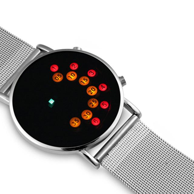 Hot Sale Binary Wrist Watch Men Digital Watch Luxury LED Electronic Watches Men's Watch Clock reloj hombre relogio masculino
