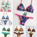 Sexy Bikini Brasileño 2017 Biquini Traje de baño Traje de Baño Ropa de Playa maillot de bain traje de Baño Mujeres traje de Baño Bikinis Trenzadas