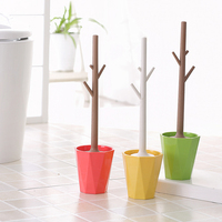 Bath Hardware Sets Durable Type Yellow Red Green Plastic Toilet Brush Holders Bathroom Accessories Wc Brush Of Toliet HY