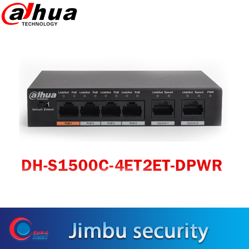 Dahua 4ports PoE Switch DH S1500C 4ET2ET DPWR 4CH Ethernet Power Switch Support 802 3af 802