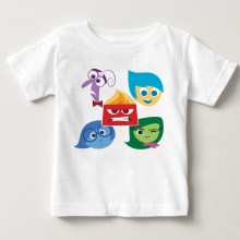Hot sale Inside Out t-shirts children 2018 Summer Boy  girl Clothing Tops Cartoon characters happy sadness fear hate anger MJ