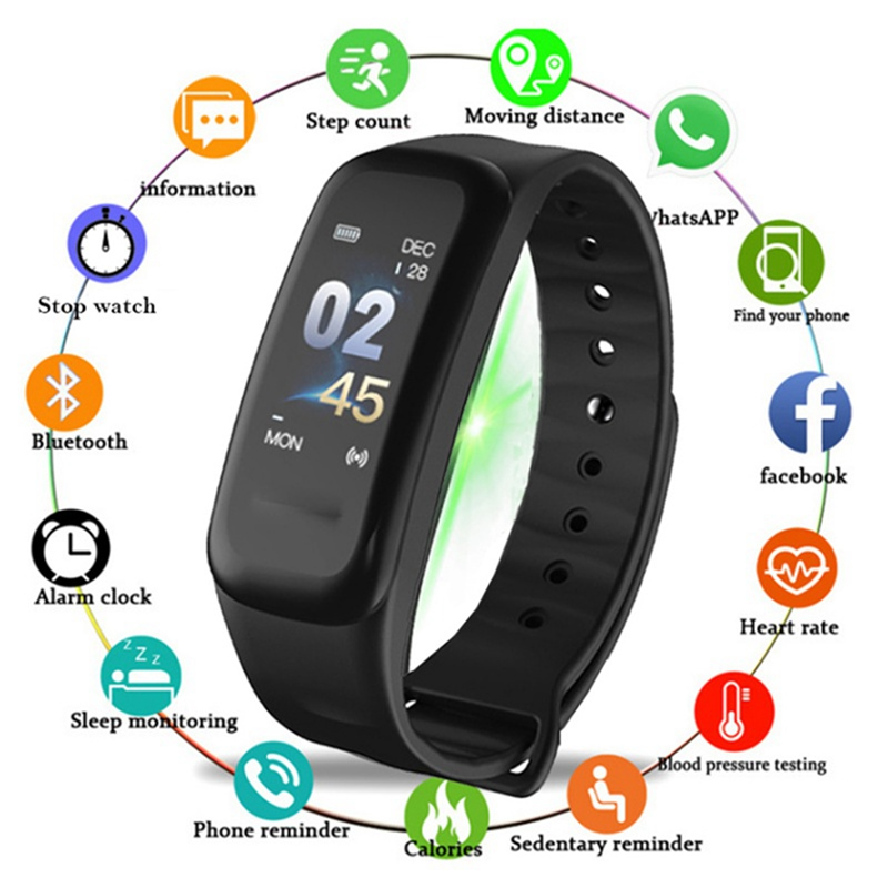 Fitness-Equipment Pedometer Smartwatch Adjustable Bluetooth High-Quality Women Touch-Screen