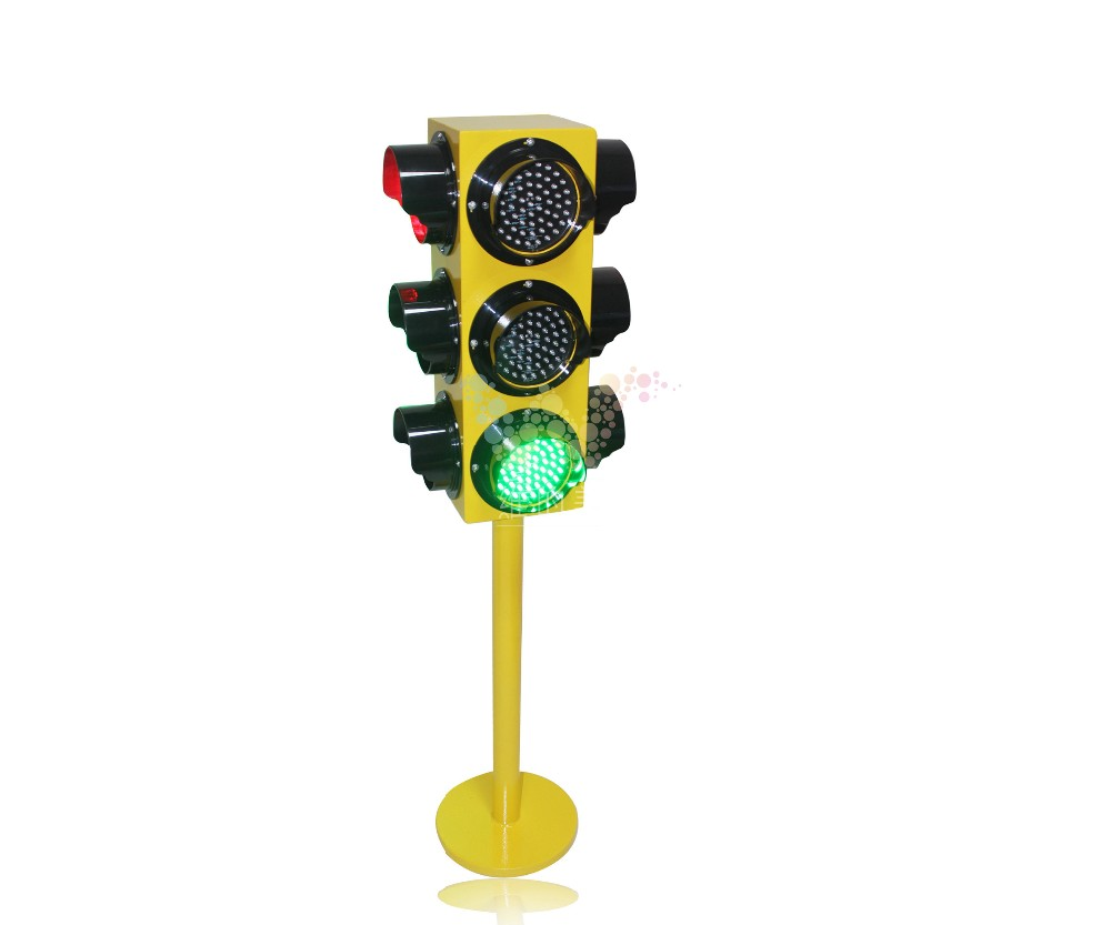 WDM Stainless Steel Waterproof Case Kids Traffic Signal Light 4 Faces