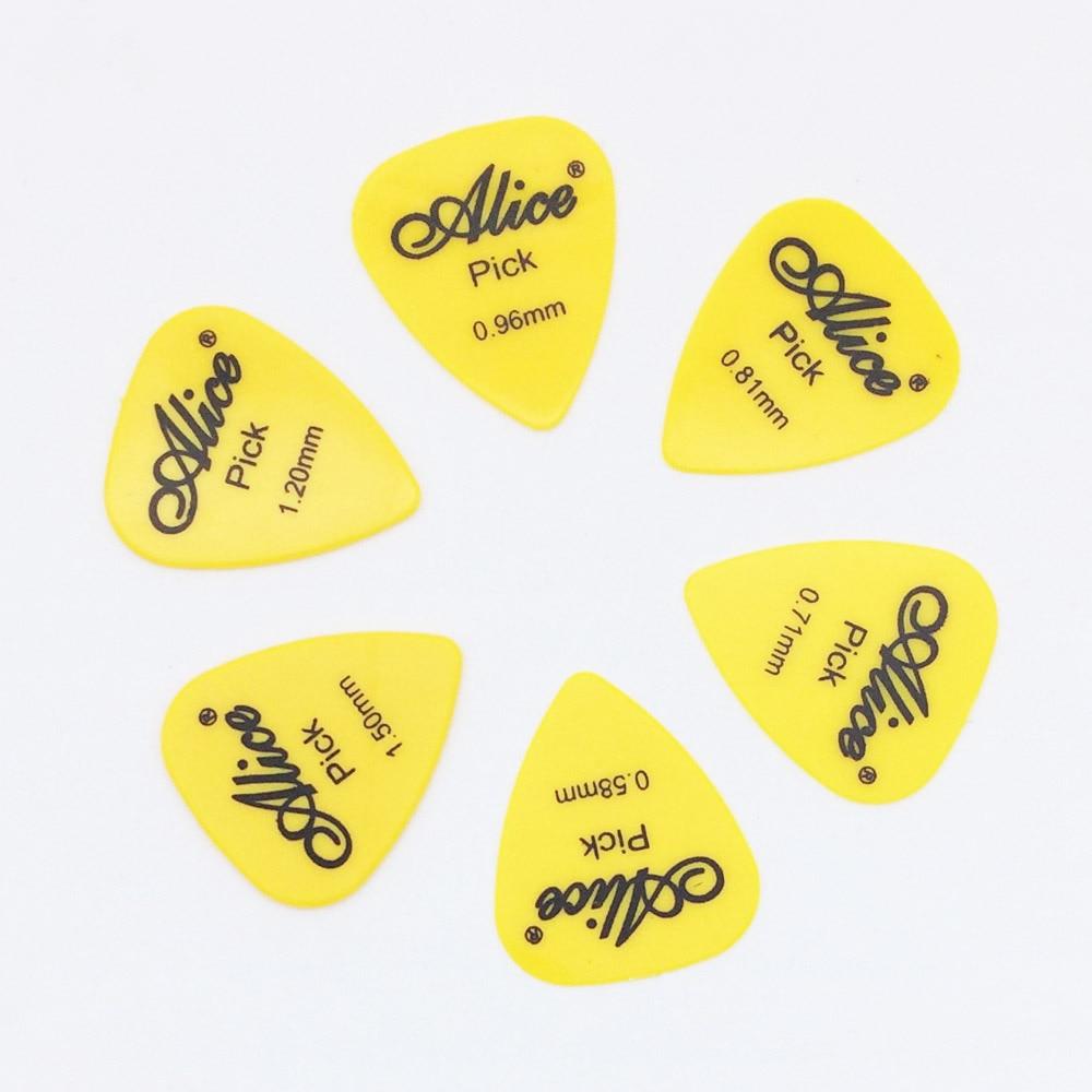 6 Stück Alice Gitarrenpicks in 1 Farbe in voller Dicke 0,58 0,71 - Musikinstrumente - Foto 2