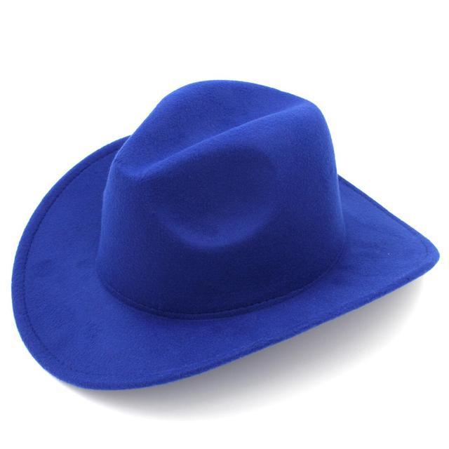 LUCKYLIANJI Kids New Cool Trilby Wool Felt Fedora Country Boy Cowboy  Cowgirl Hat Western Bull Jazz 310d0f99f08