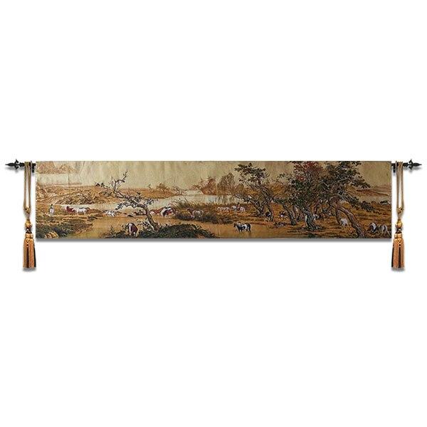 Peinture traditionnelle chinoise cent cheval moderne salon tapisserie décorative signifie réussir dans votre carrière