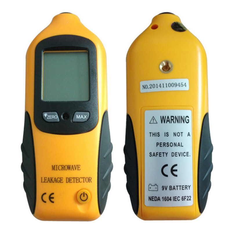 Digital LCD Microwave Leakage Radiation Detector Meter Leaking Tester With Alarm 0-9.99mW/CM2 Portable Radiation Detector