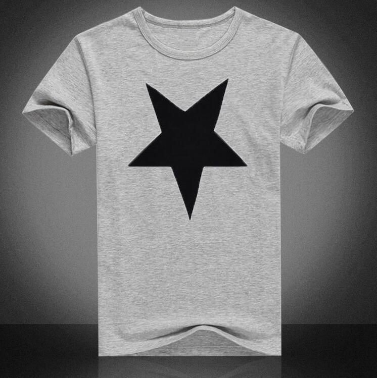 1997cdf3e Impresso camisetas homens verão Lazer T-shirt gola Redonda padrão de  estrela estilo de Vender como bolos quentes