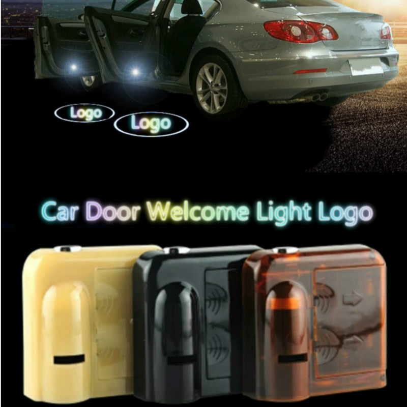 For most Cars 2Pcs Wireless Projector Auto Logo Shadow Door Welcome Step LED Light For Ford logo light 2pcs projector laser auto open door welcome step logo led lights for ford blue mustang 50 years 5139