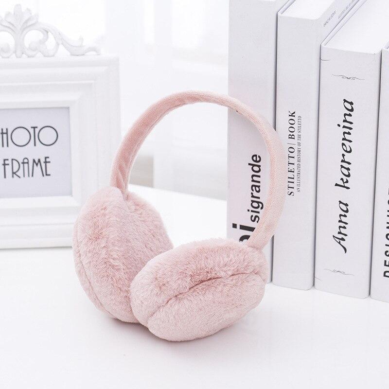 New Design Winter Earmuffs For Women Girls Boys Fur Earmuffs Warmers Winter Comfortable Warm Winter Earmuffs TKE001-peach