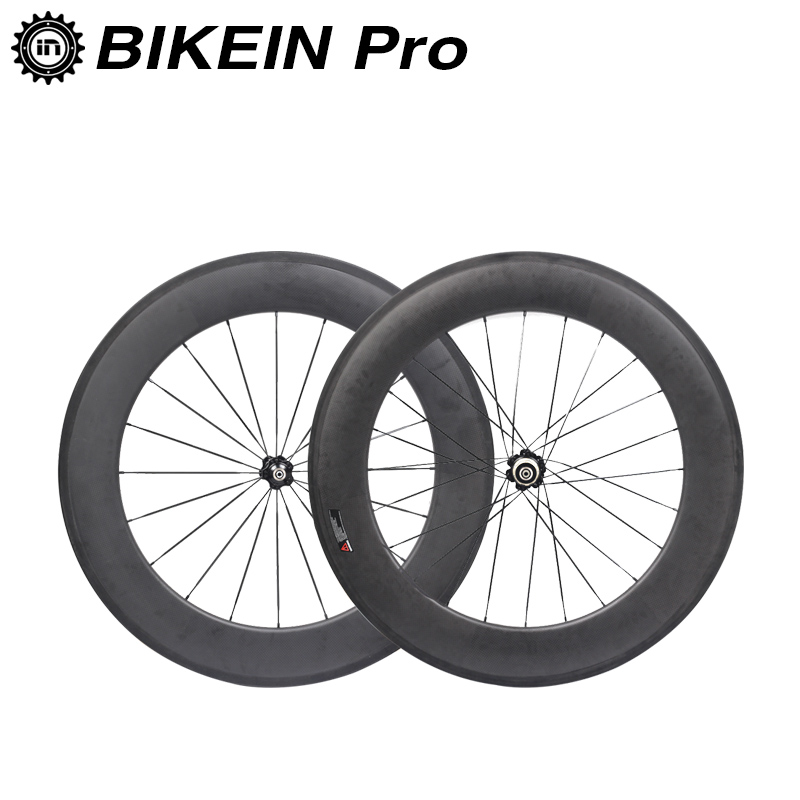 BIKEIN 88mm Clincher Tubular 3k Carbon Road Wheelset 700C Racing Road Bike Ultralight Wheels 271/372sb Hub Cycling Bicycle Parts 1350g 38mm clincher straight pull racing road bike carbon wheels bicycle carbon wheelset for r36 hub