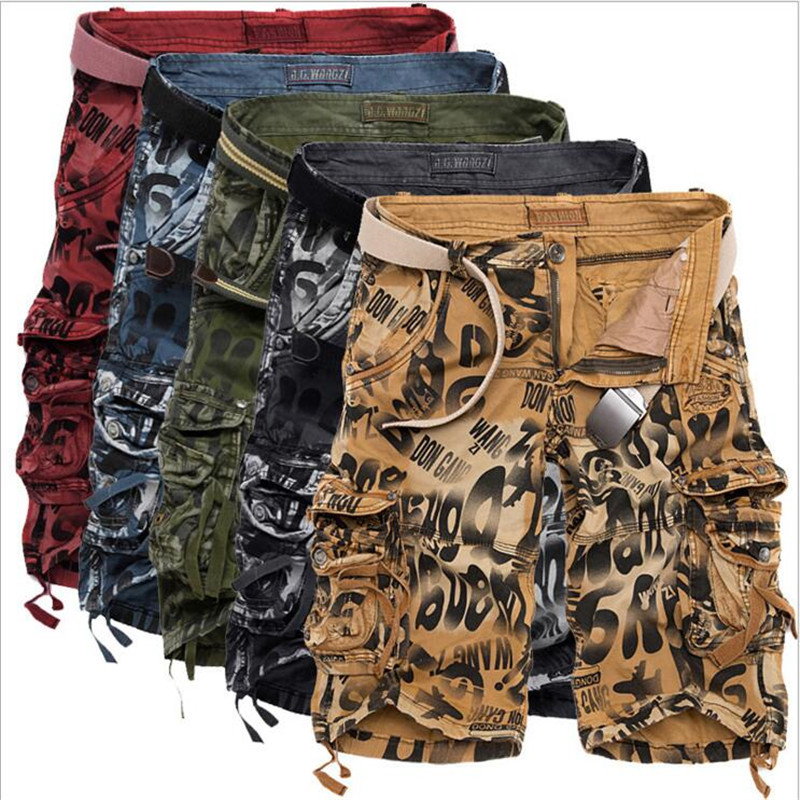 hot 2017 New Design Men Summer Camouflage Military Cargo Shorts Masculina Jeans Male Fashion Casual Baggy Denim Shorts men