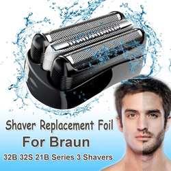 Cabeça da folha de barbear substituição para braun 32b 32 s 21b para cruzer6 série 3 301 s 310 s 320 s 360 s 3000 s 3010 s 3020 s 350cc cabeça lâmina