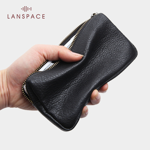 Image 2 - LANSPACE גברים של עור ארנק האופנה מטבע ארנקי מחזיקי מפורסם מותג ארנק