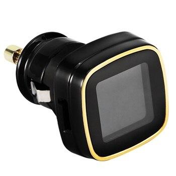 New Universal TPMS Sistema de Monitoramento de Pressão Dos Pneus em tempo-Real Isqueiro com Sensores Externos 4 LCD Display Digital