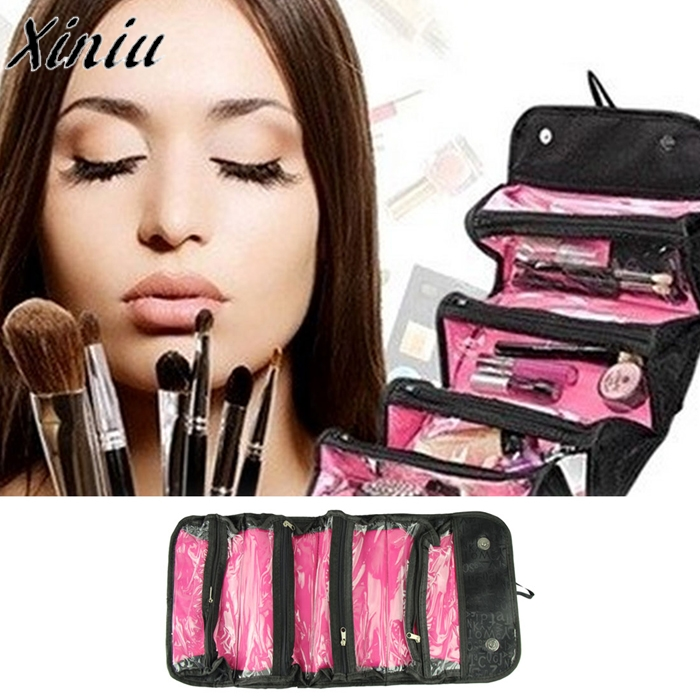 Makeup Organizer Travel Cosmetic Case Travel Cosmetic Bag professional Multifunction Brush Makeup Bag Rangement Maquillage #9718 fashion travel cosmetic bag makeup case multifunction organizer trousse de maquillage necessaire free shipping
