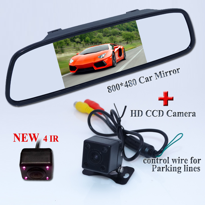 With the wide angle camera auto+5lcd hd 800*480 mirror for universal car backing system to sell at favorable price