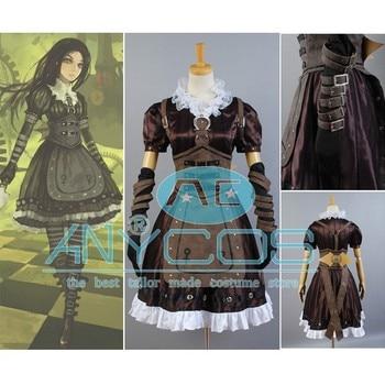 Alice Madness Returns Costume Cosplay Alice Stream Costume Women Maiden Uniform Dress Halloween Cosplay Costumes Custom Made