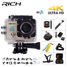 RICH Q5H pro Action camera Ultra HD 4 K WiFi Full 1080 P 60fps Diving underwater go waterproof Helmet Cam Sports action Cameras