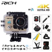 الغنية Q5H برو عمل كاميرا الترا HD 4 K واي فاي كامل 1080 P 60fps الغوص تحت الماء الذهاب مقاوم للماء خوذة كام الرياضة كاميرات تصوير الحركة