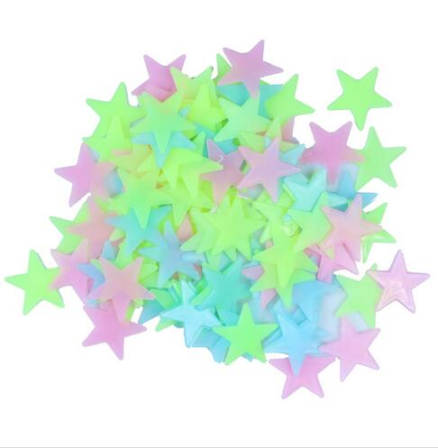 Cheap Hot Sale Various in Dark Luminous Cartoon Moon Star Nursery Baby Room Home Decor Wall Stickers for Kids Rooms Decal darkness