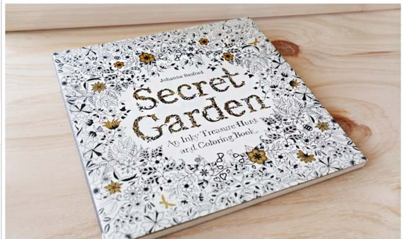Original Korean Secret Garden Coloring Book For Adult Children Relieve Stress Kill Time Graffiti Painting Drawing In Books From Office School