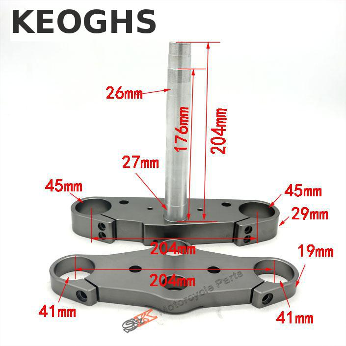 Keoghs Motorcycle Triple Trees Cnc Aluminum Top And Bottle Clamp For 41mm Fork Tubes For Thailand Honda Msx125 Monkey Motorbike