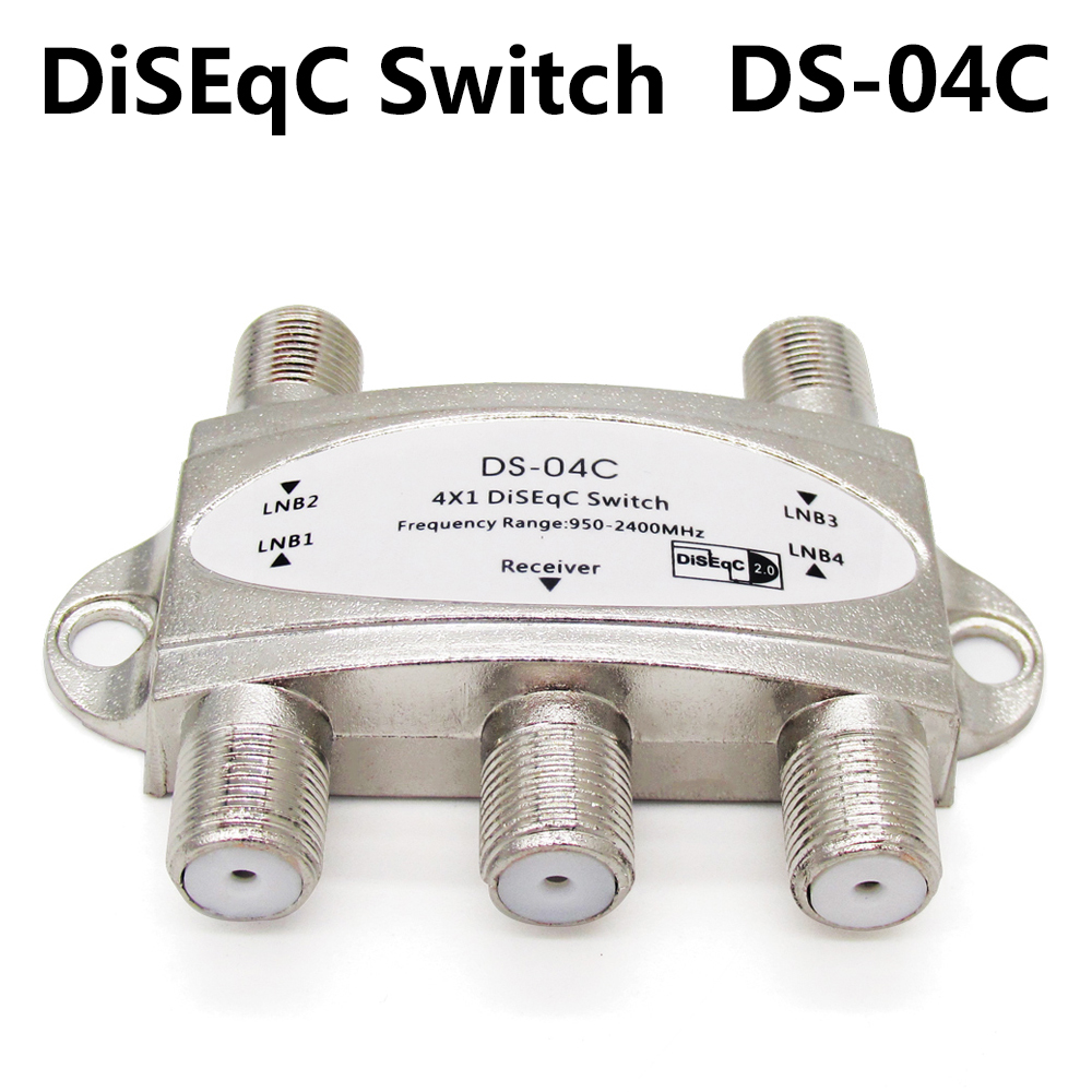 SZ High quality 4 in 1 DS-04C 4x1 DiSEqC Switch Satellites FTA TV LNB For Receiver V8 DVB-S/S2