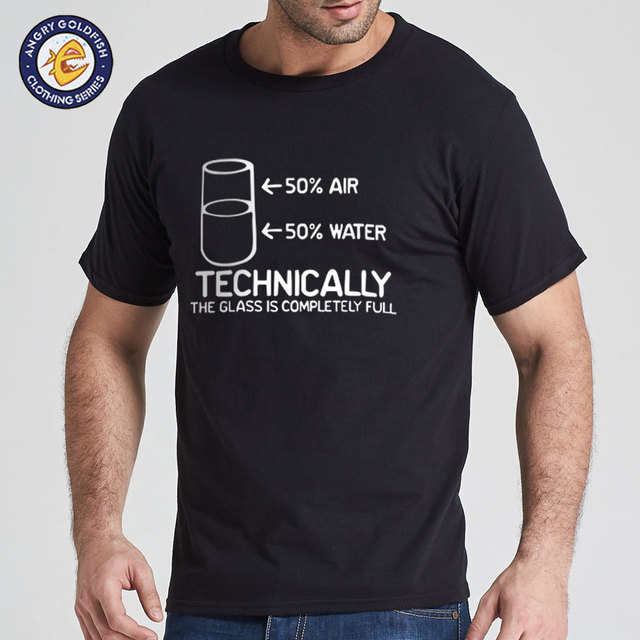 eb8b5b822 Technically The Glass Is Completely Science Sarcasm Funny Cool Humor T Shirt