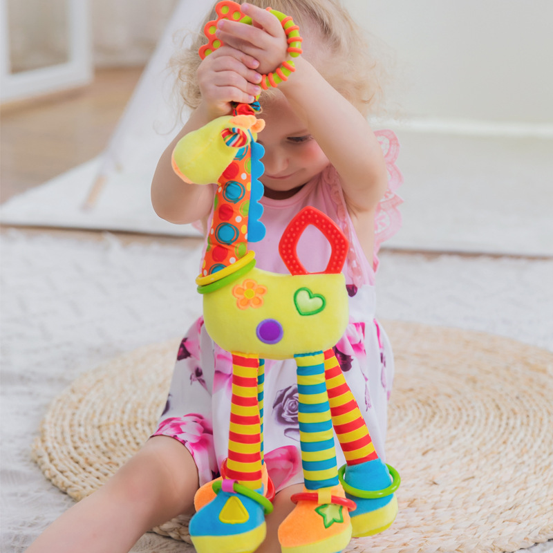 Baby Hanging Toys 0 1 Year Birth Gifts Crib Mobile Animal Giraffe Bed Toy Keep Newborn Infant Toddler Boy Girl Pacifiers