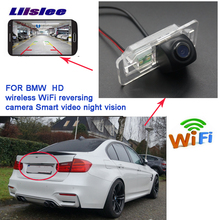 Liislee wireless reverse backup camera For BMW 5 M5 E39 E60 E61 X5 E53 E70 X6 E71 CCD night vision waterproof Full HD цены онлайн