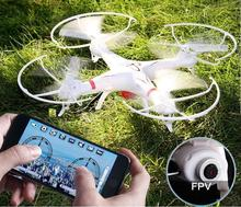 HuanQi 898B RC drone with/without HD WIFI camera 2.4G 4CH FPV 6-axis Gyro Headless Mode smartphone gravity induction control