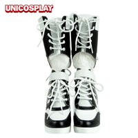 Harley Quinn High Heel Boots Women Halloween Shoes Party Canival Costume Accessories XZ00001F36