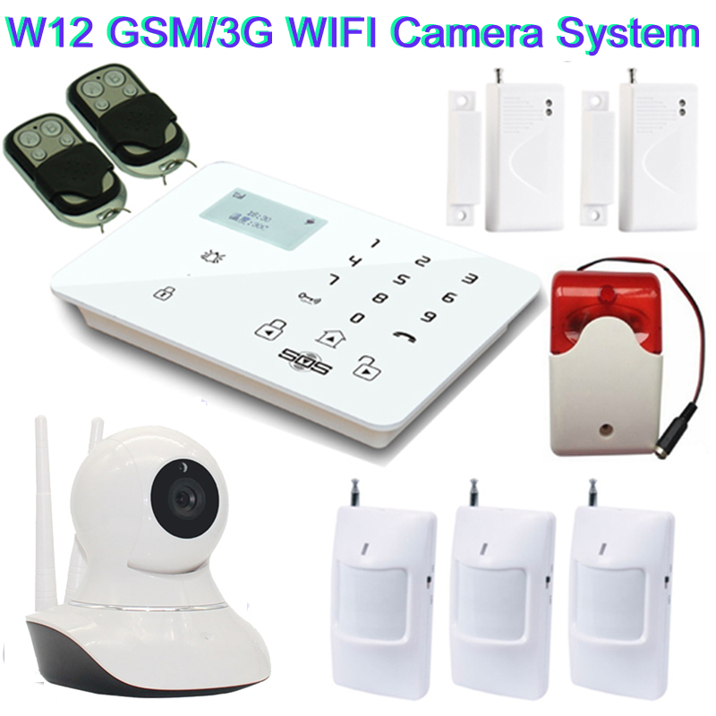 720P HD Remote Monitoring WiFi IP Camera GSM Camera System 360 Rotation Video SMS Alarm GSM Smart Alarm Siren Strobe W12D|strobe siren|strobe remote|strobe alarm - title=