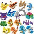 16 Style Anime LOZ Pocket Monster Figures Model Toys Pikachu Toys Charmander Bulbasaur Charizard Eevee Building Blocks kids toys