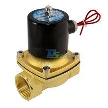 Высокое качество 2 разъём(ов) электромагнитный клапан NPT1.25 » DC 24 В прямого воздушного 1000wog нормально закрытым латунь электрический