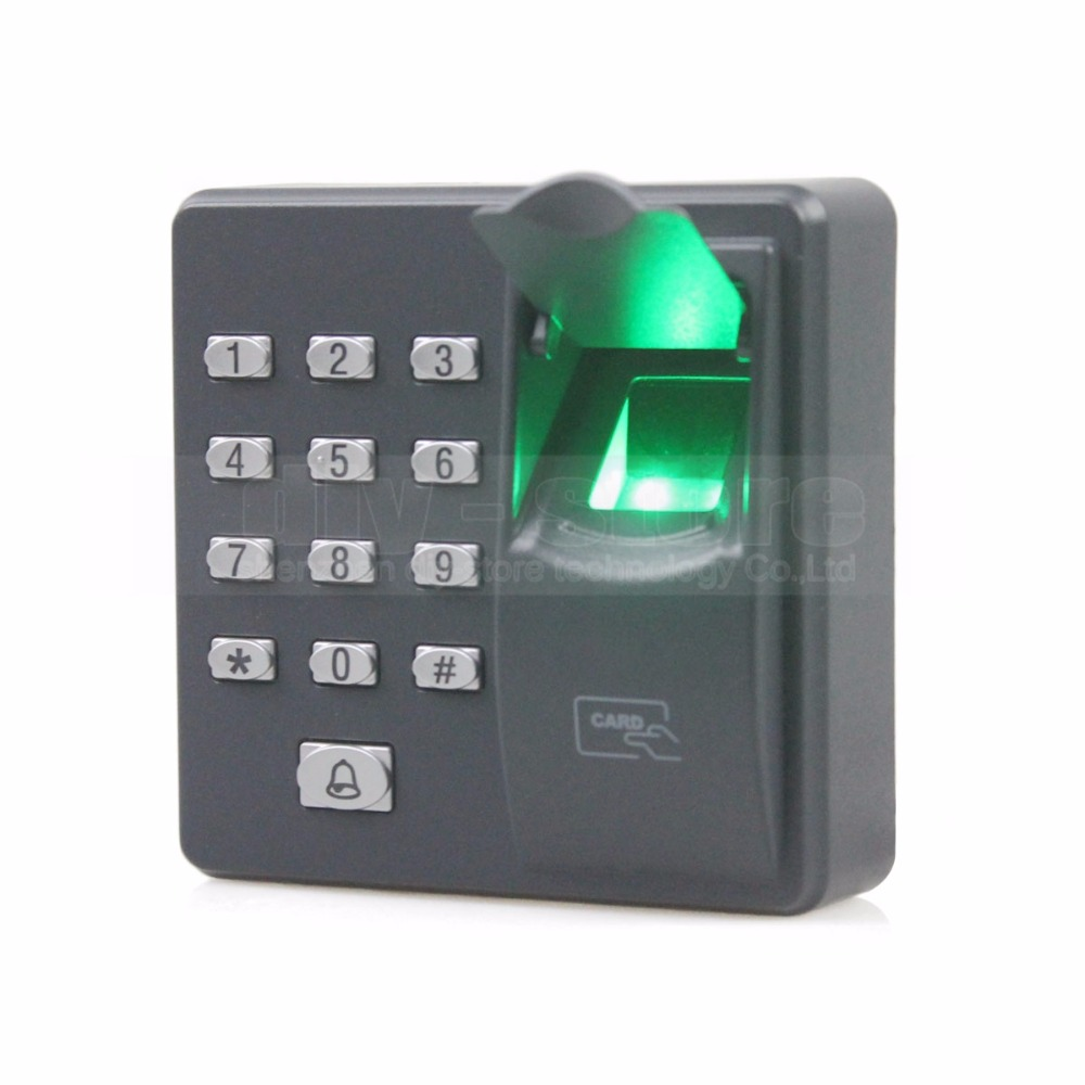 DIYKIT Biometric Fingerprint Access Control Machine Digital Electric RFID Reader Code Password Keypad System for Door Lock brand new biometric fingerprint door access control system 125hz rfid keypad for entrance guard get 10 piece id keyfob free