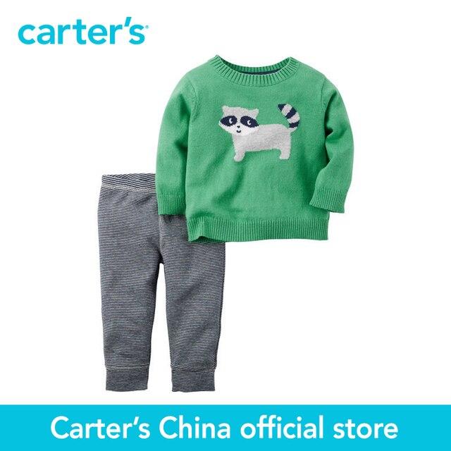 Картера 2 шт. детские дети дети Свитер и Брюки Набор 121G857, продавец картера Китай официальный магазин