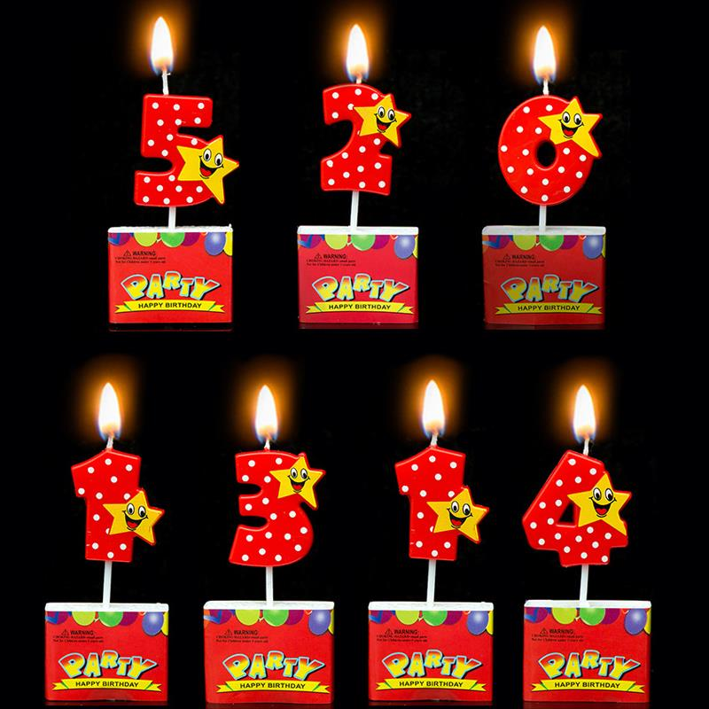 Number Birthday Candles 1 2 3 4 5 6 7 8 9 0 Kids Adult For Cake Party Supplies Decoration In