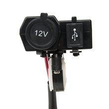 10 шт водонепроницаемый usb адаптер на руль мотоцикла скутера