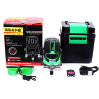 XEAST 5 Line 6 Point Green Laser Level Meter 360 Degree Laser Level With Outdoor Mode