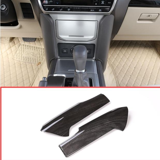 Pour Toyota Land Cruiser Prado FJ150 150 2018 noir frêne bois ABS voiture centrale Console décoration panneau couverture garniture